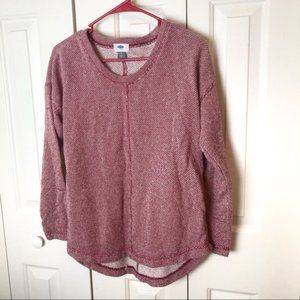Old Navy Red Knit Oversized Sweater Size Small